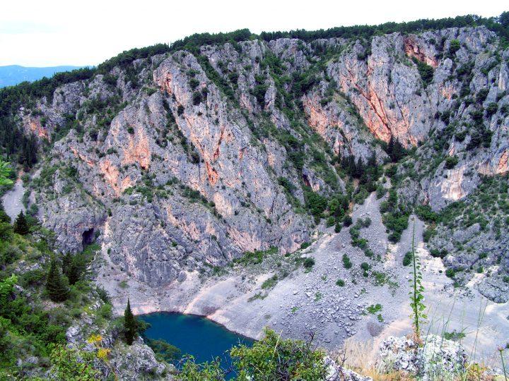 Modré jazero, Imotski, Chorvátsko