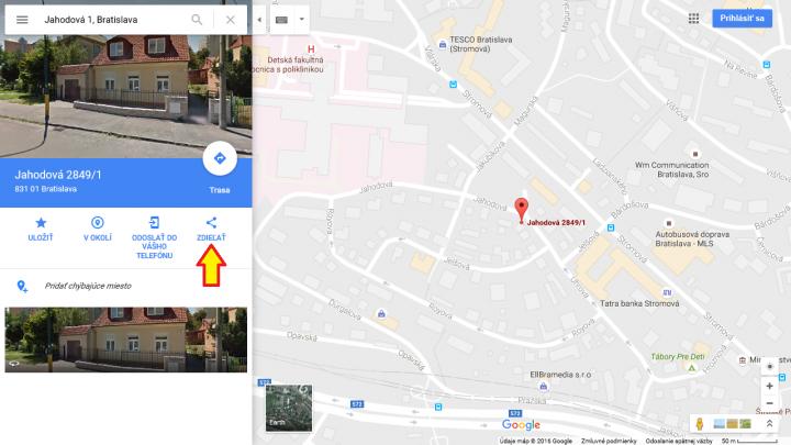 Google mapa 1