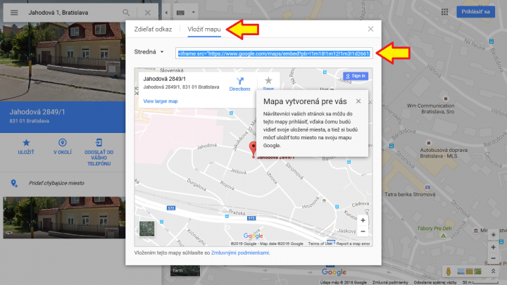 Google mapa 2